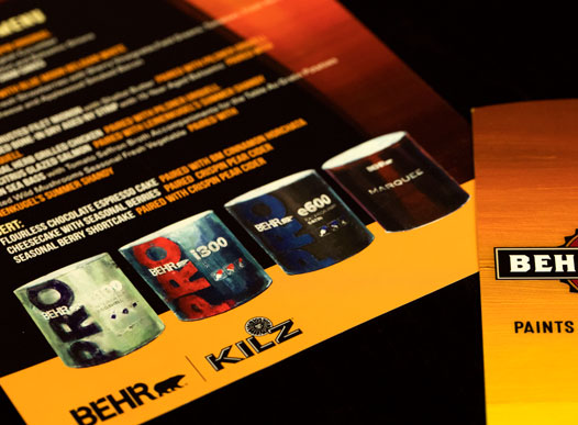 photo of behr printed material