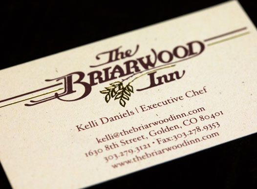 photo of briarwood business card