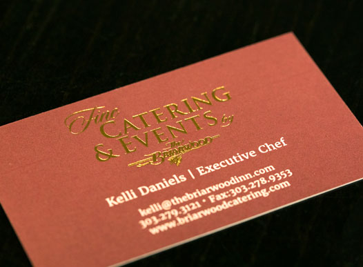 photo of catering business card
