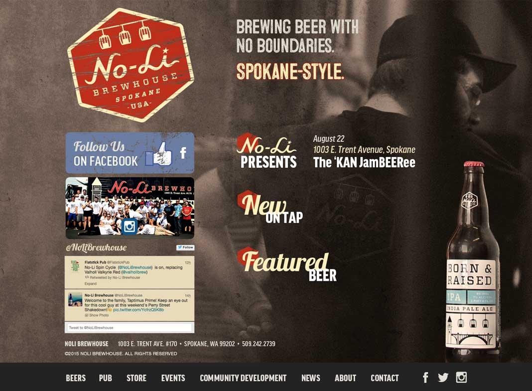 screenshot of no li homepage