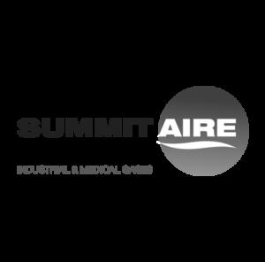 summit aire logo black and white design by Stortz Design