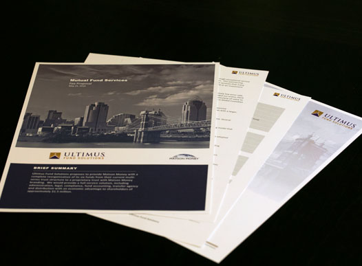 photo of ultimus printed materials