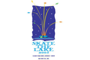 skate the lake 2003 logo